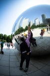 Me touching the Bean