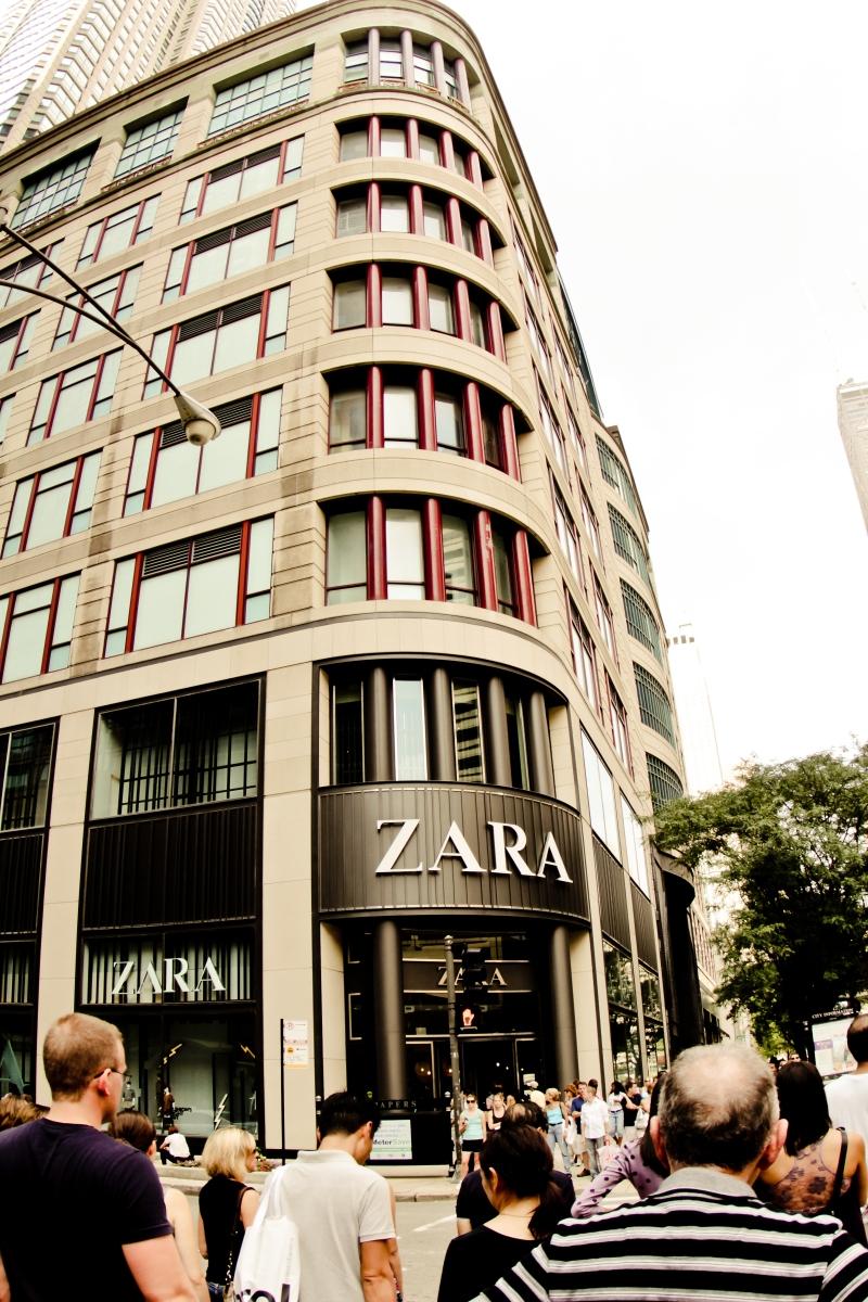 Zara on the Mag Mile
